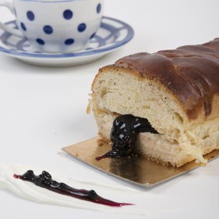 עוגת שמרים ריקוטה אוכמניות